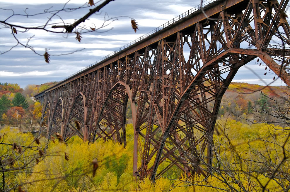 Autumn in Minnesota, Rail Road Bridge over St. Croix River