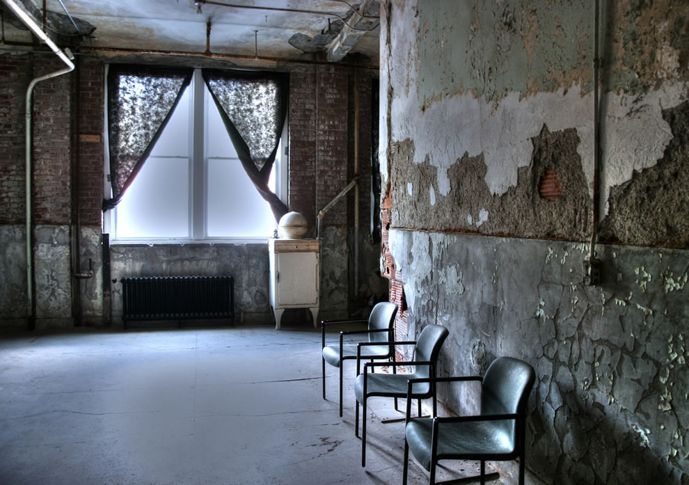 Chairs and Window at Waverly Hills Sanatorium