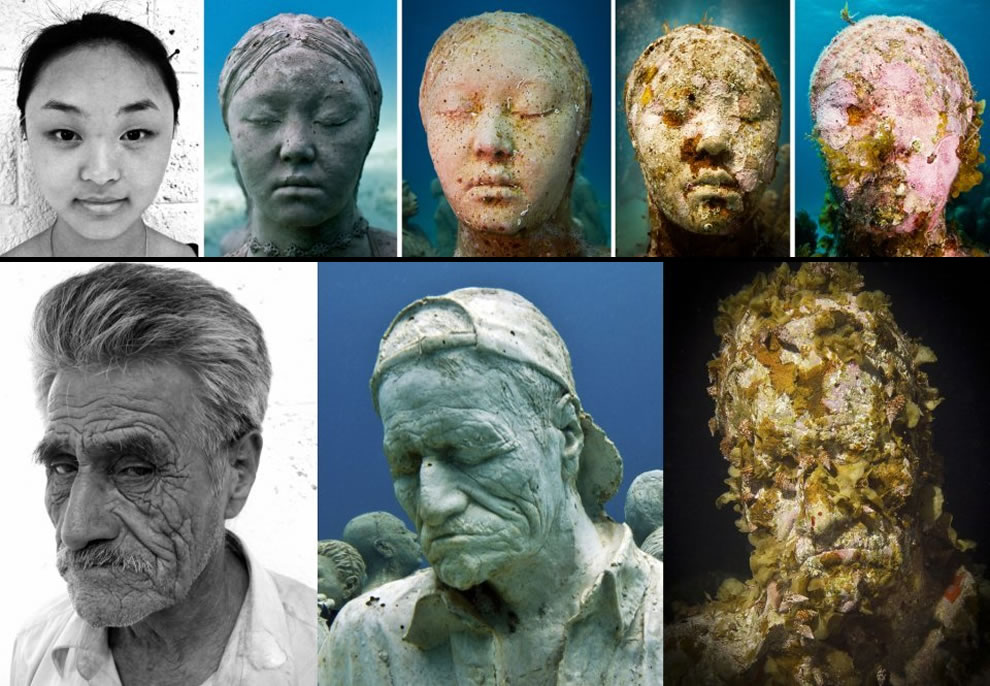 Evolution of Silent Evolution sculptures by Jason deCaires Taylor