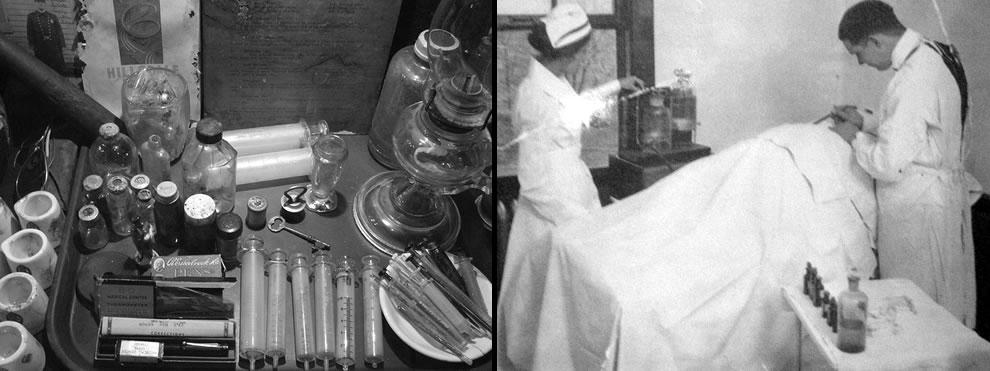 Surgery at tuberculosis hospital, Waverly Hills history