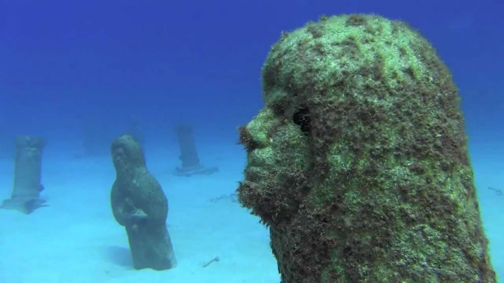 The Lost City of Atlantis underwater sculpture collection at Cayman Brac