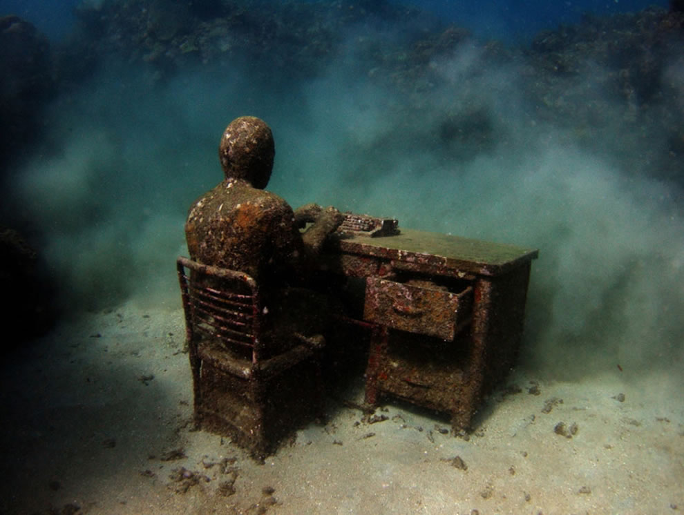 The Lost Correspondent after time and coral growth