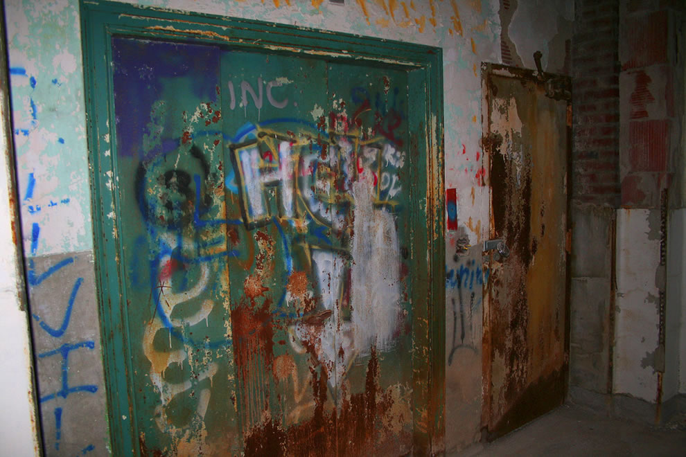 Vandalism has destroyed much of the interior of the sanatorium