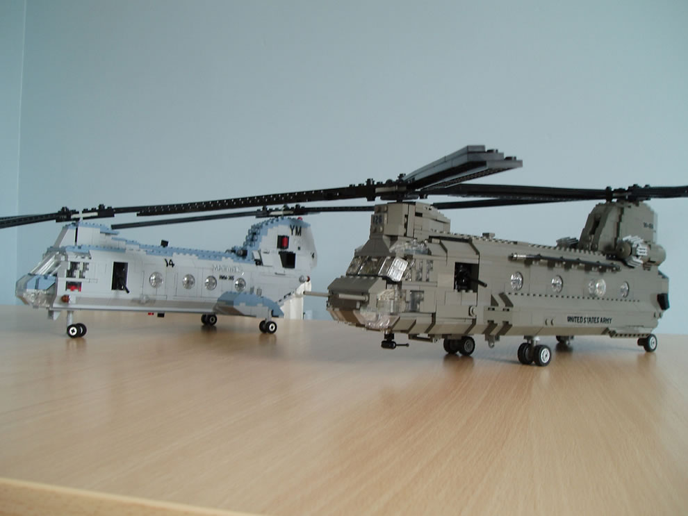 Chinook (Army) and Sea Knight (Marines)