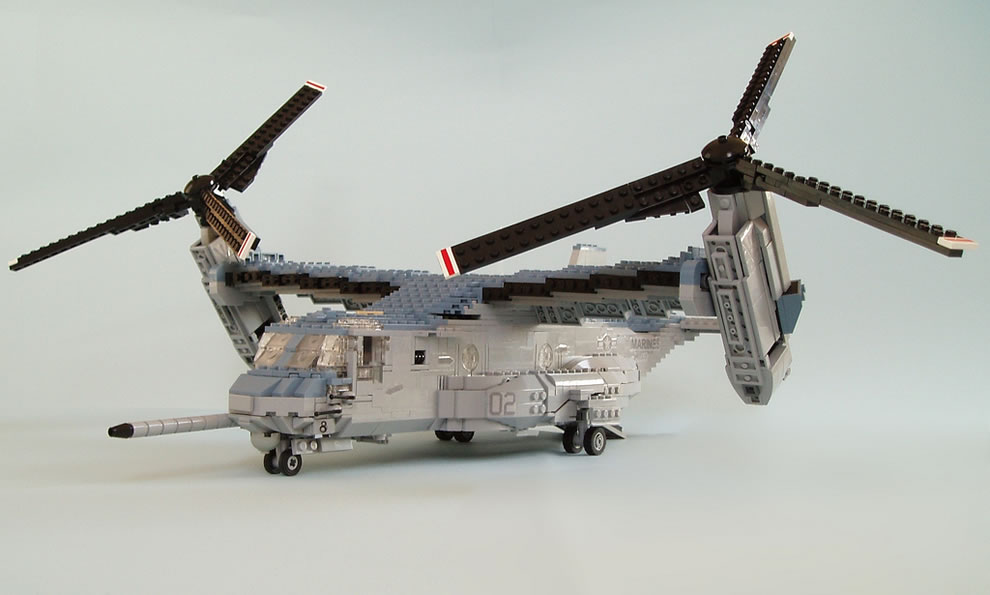 how to make a lego war helicopter