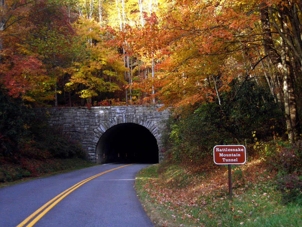 Rattlesnake Mountain Tunnel, North Carolina within Great Smoky Mountains National Park