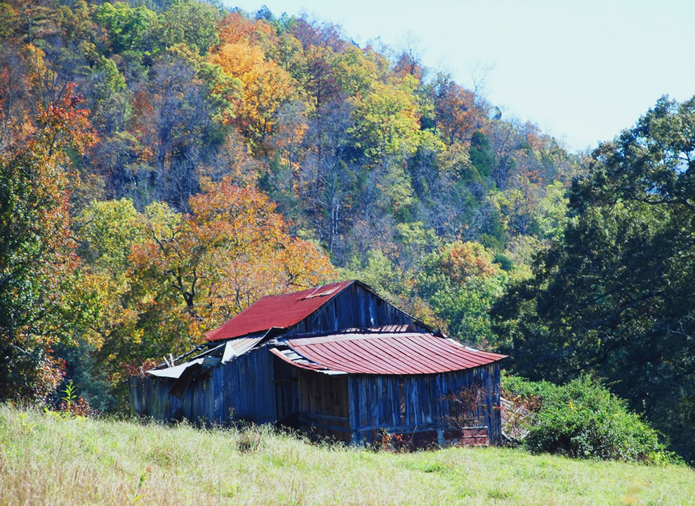 Rural autumn in the Smokies