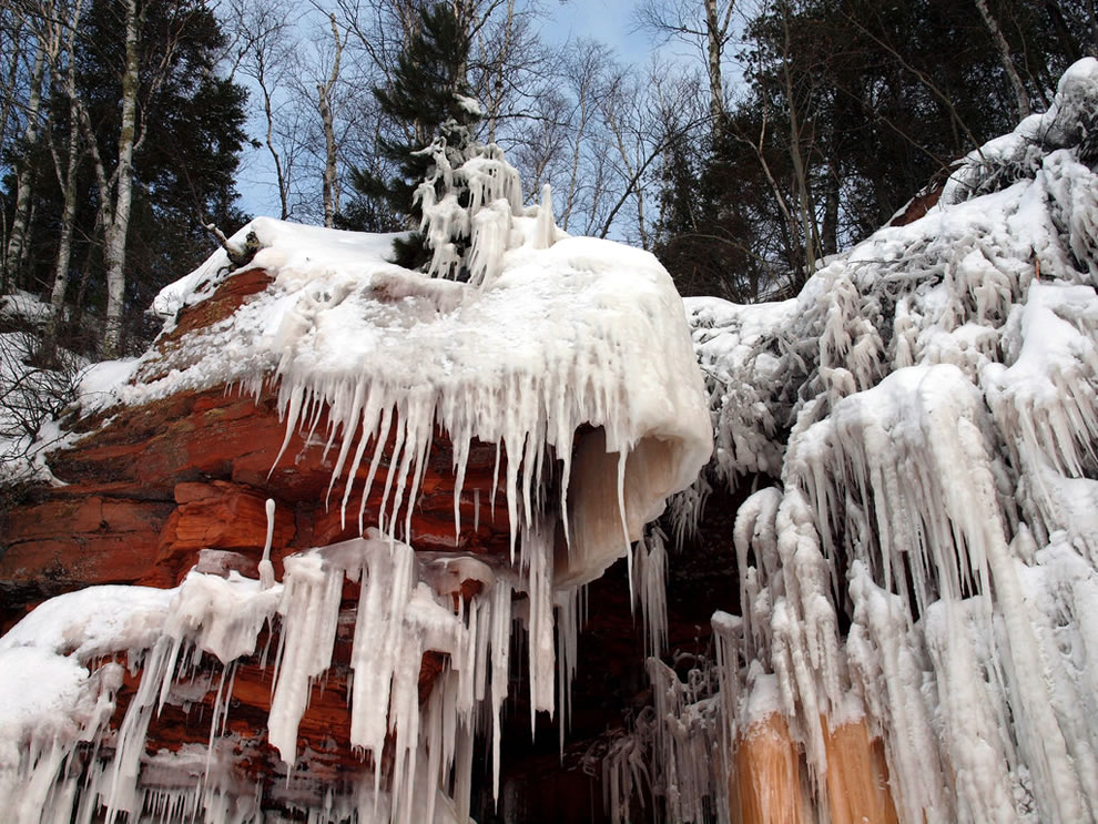 Feb 2014 ice formations on Apostle Island sea caves