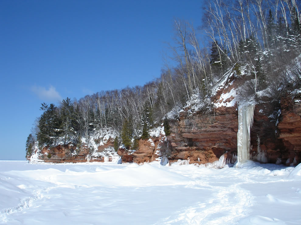 Frozen Waterfall Apostle Islands National Lakeshore