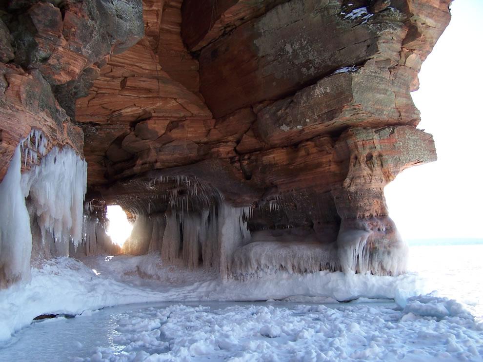 Ice Wall AT Apostle Islands National Lakeshore