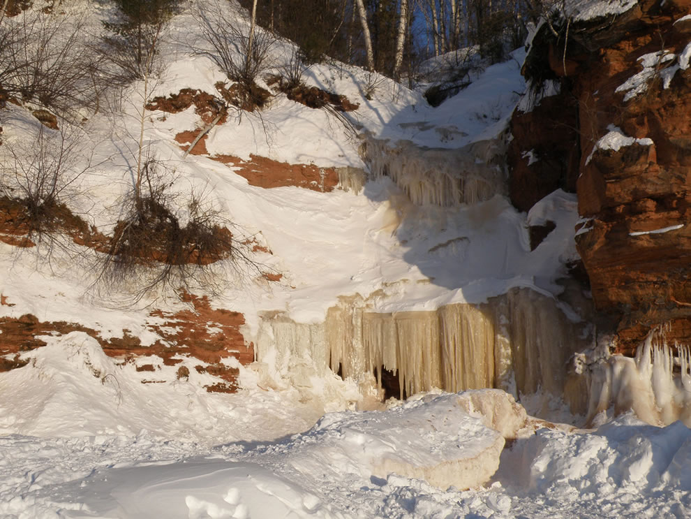 Winter wonderland, frozen falls and ice caves, Apostle Islands National Lakeshore