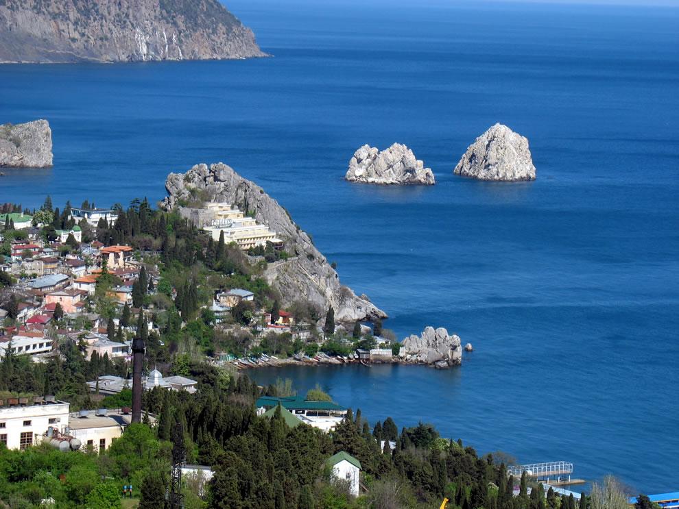 Adalary, island rocks off Crimea