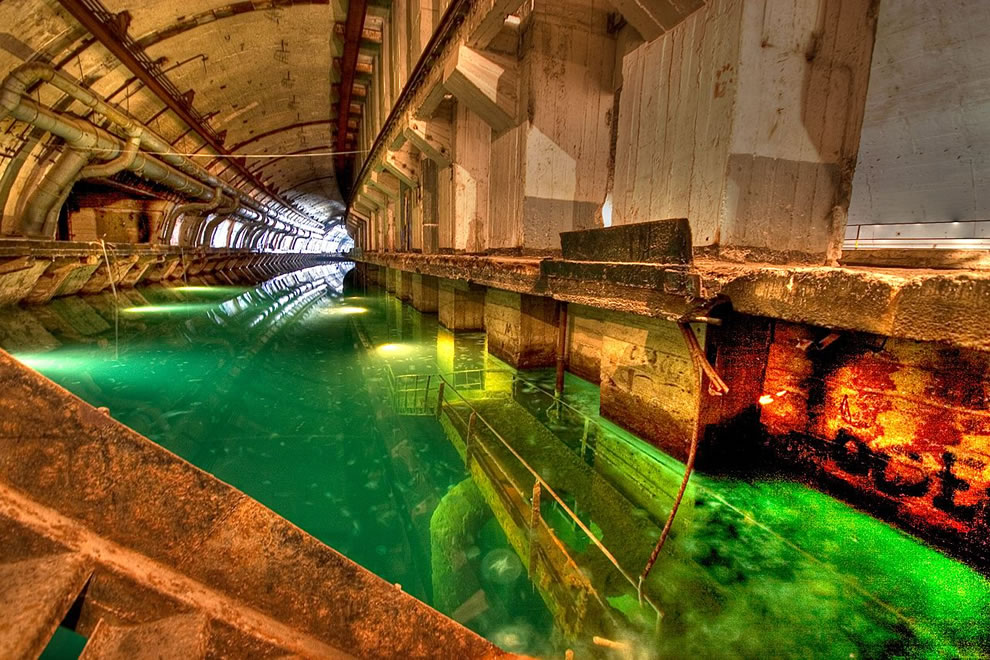 Balaklava underground, formerly classified submarine base that was operational until 1993