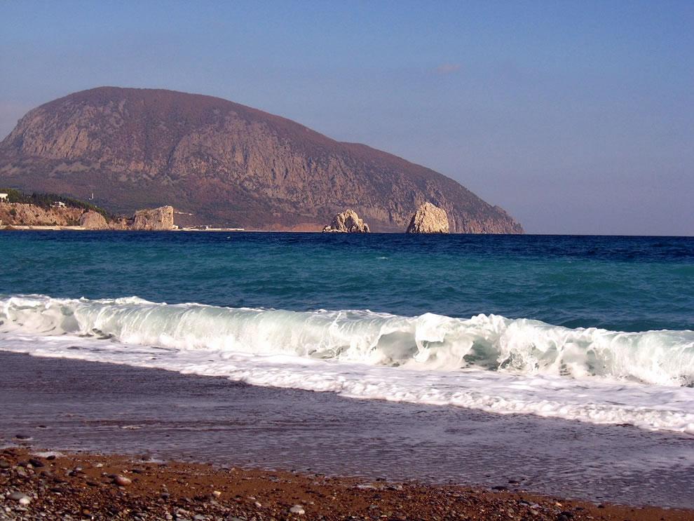 Bear Mountain (Ayu-Dag) in Crimea, a natural heritage site in Ukraine