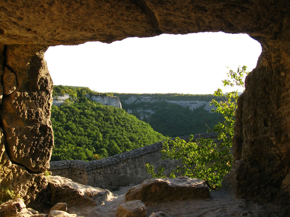 Chufut-Kale cave city, Crimea, a fortress in the middle ages