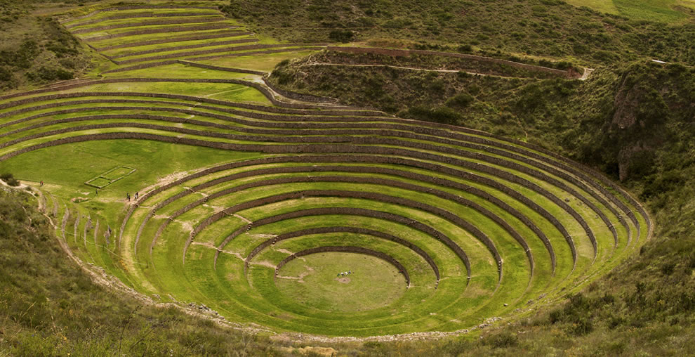 Circular terraced bowl of Moray, Cusco Sacred Valley