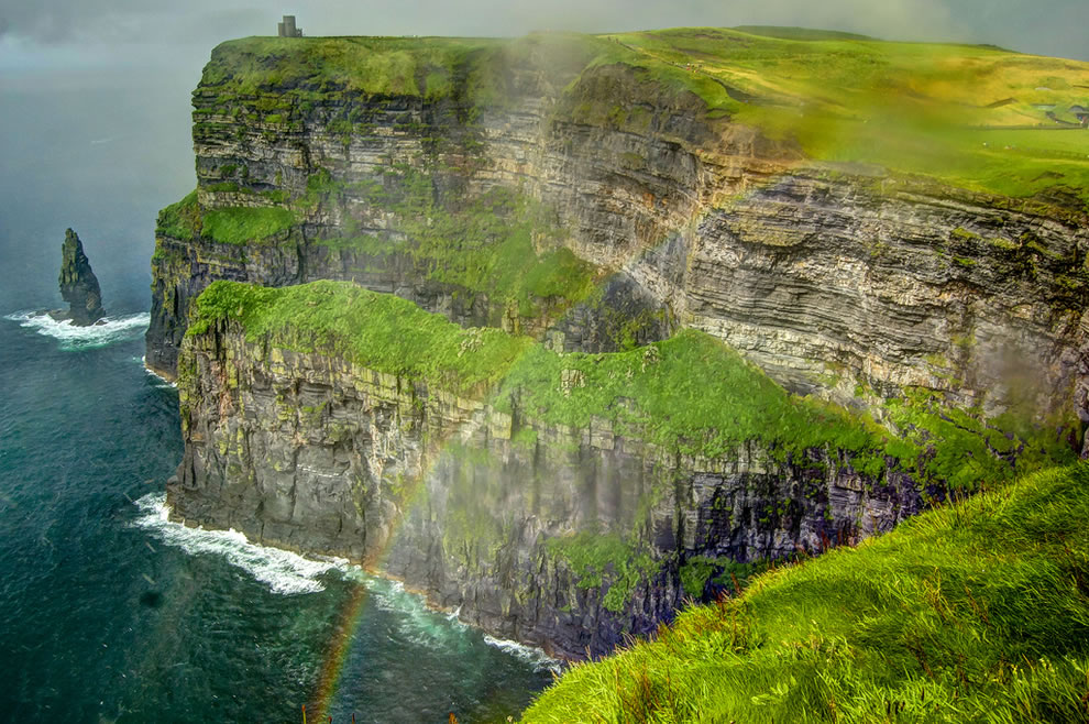Cliffs of Moher, rainbow, The Burren, Wilderness in Ireland
