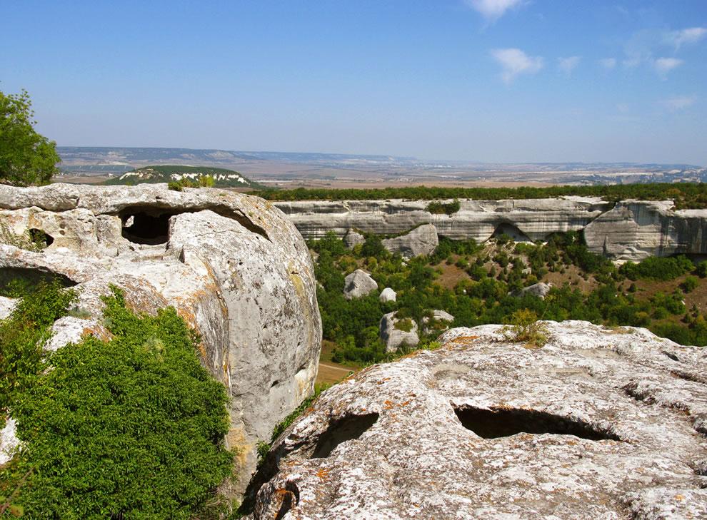 Esky-Kermen cave town in Crimea, Ukraine