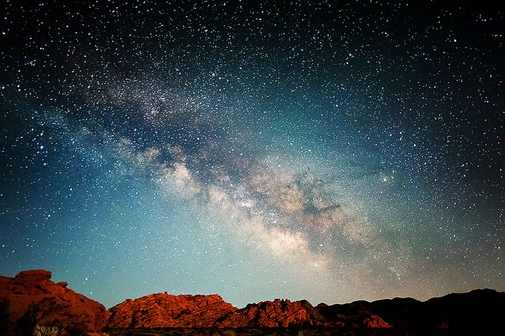 Milky Way over Valley of Fire, NV