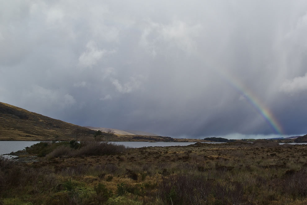 Rainbow over Glenveagh National Park