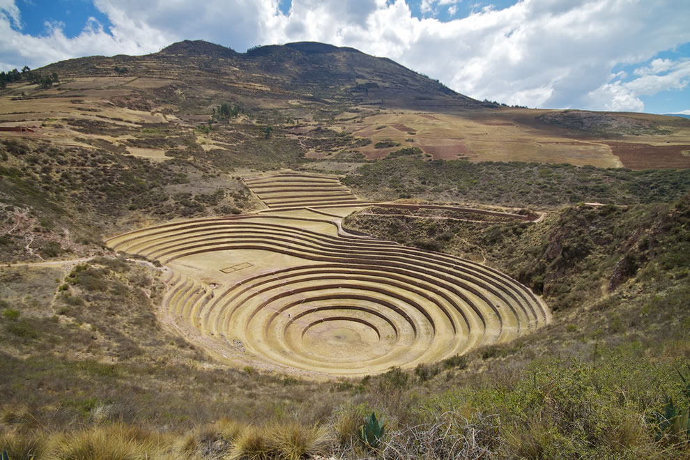 Sacred Valley, Inca agricultural terraces at Moray, Peru