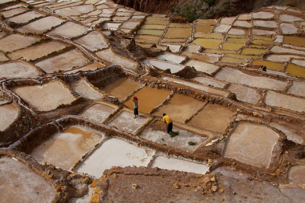 Salineras salt pans, Cusco Sacred Valley, Peru