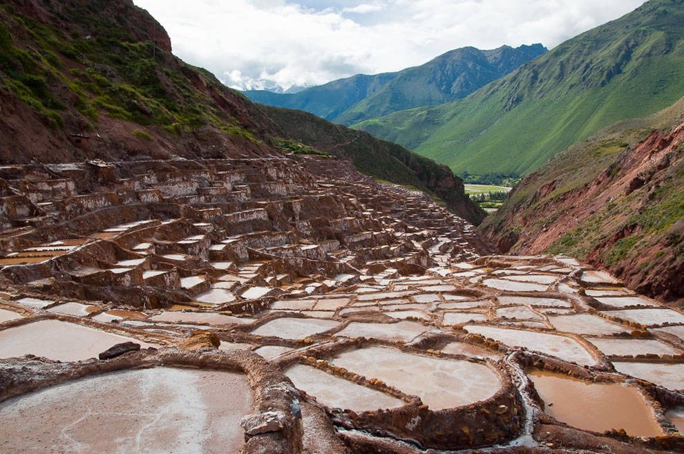 Salt Beds (Las Salinas) in Maras Peru March