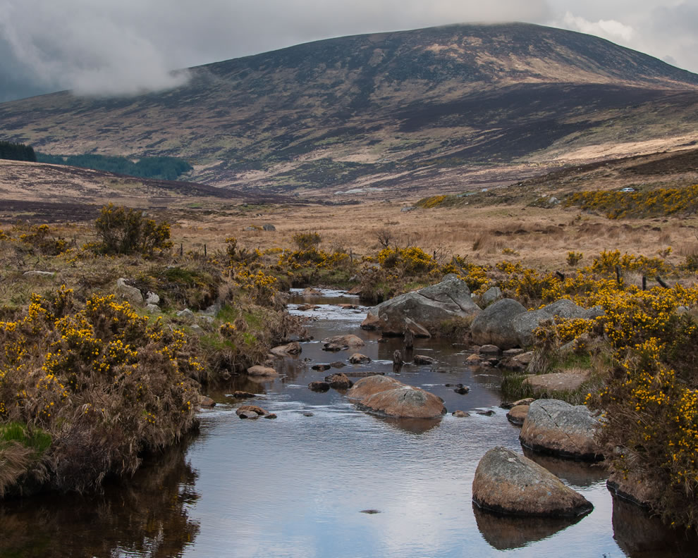 Tonelagee mountain in the Glendasan valley, Wicklow Mountains