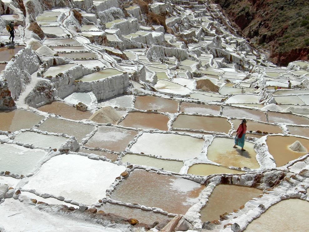 Working the Salt Pans of Salinas, Peru