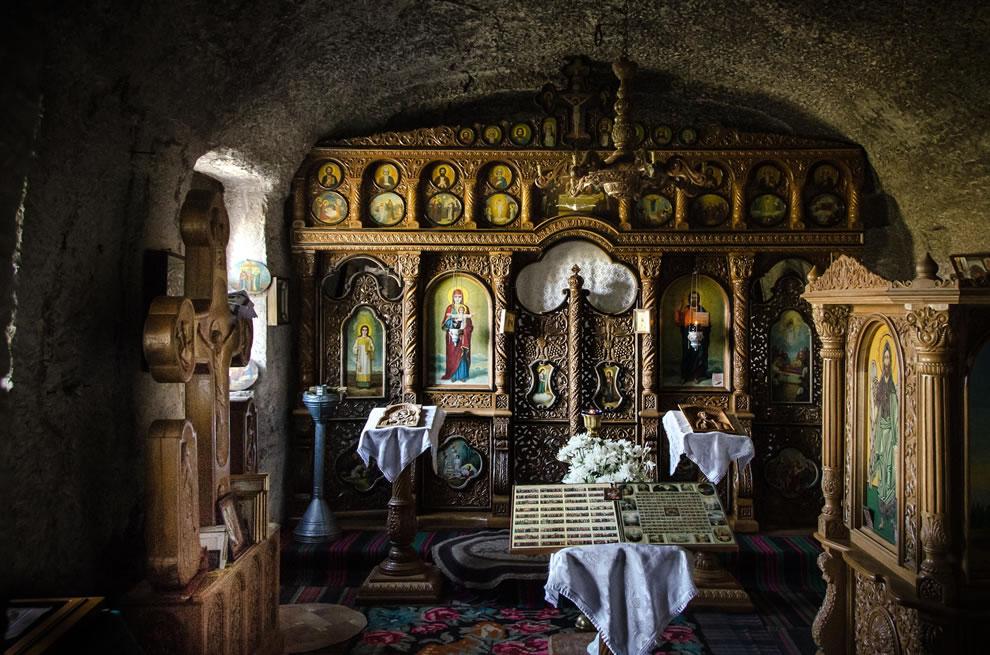 Cave room inside Orheiul Vechi Monastery