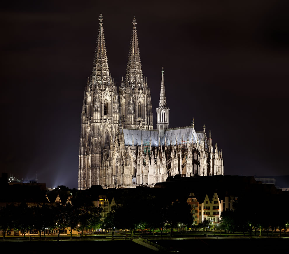 Cologne Cathedral at night in Köln, Germany, 8th place Wikimedia Commons POTY