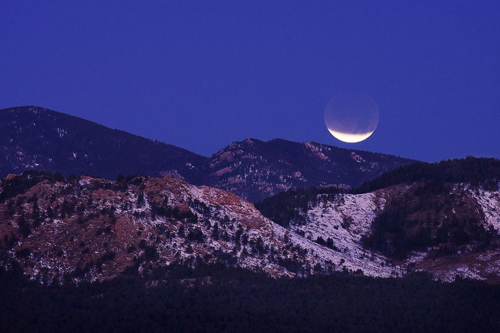 Lunar Eclipse from Devil's Backbone in Colorado
