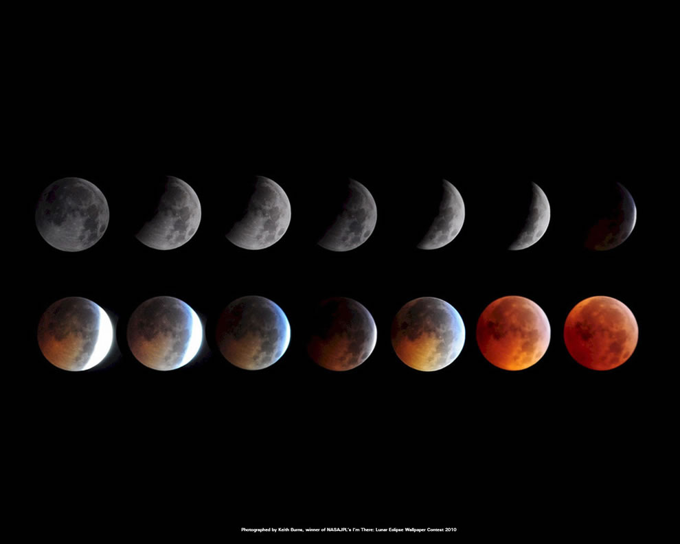 Lunar eclipse December 2010 winner, NASA wallpaper