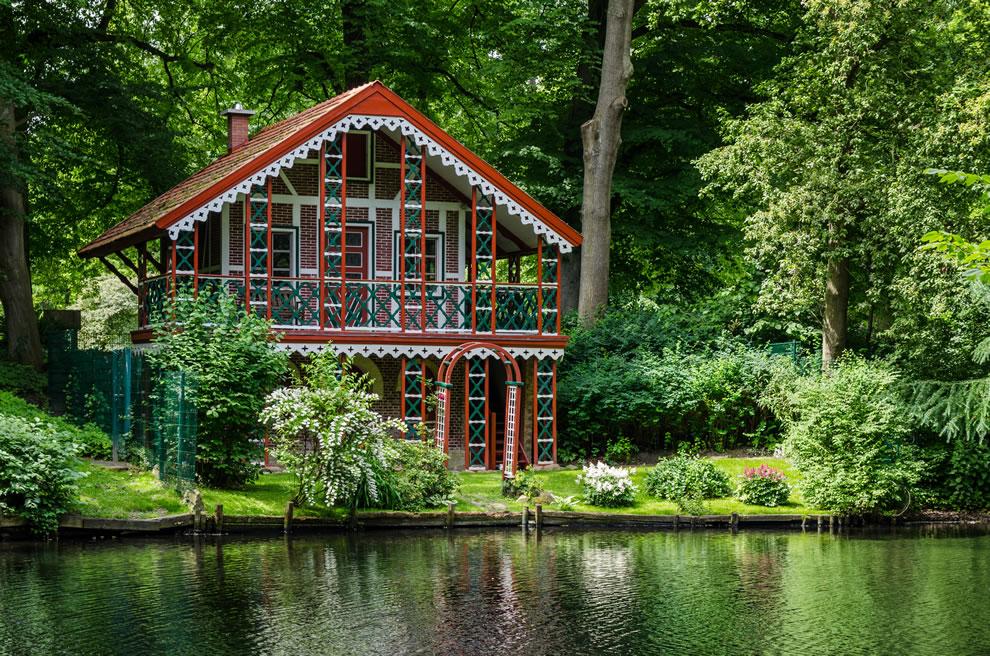Swiss House at palace garden of Ritzenbuttel Castle