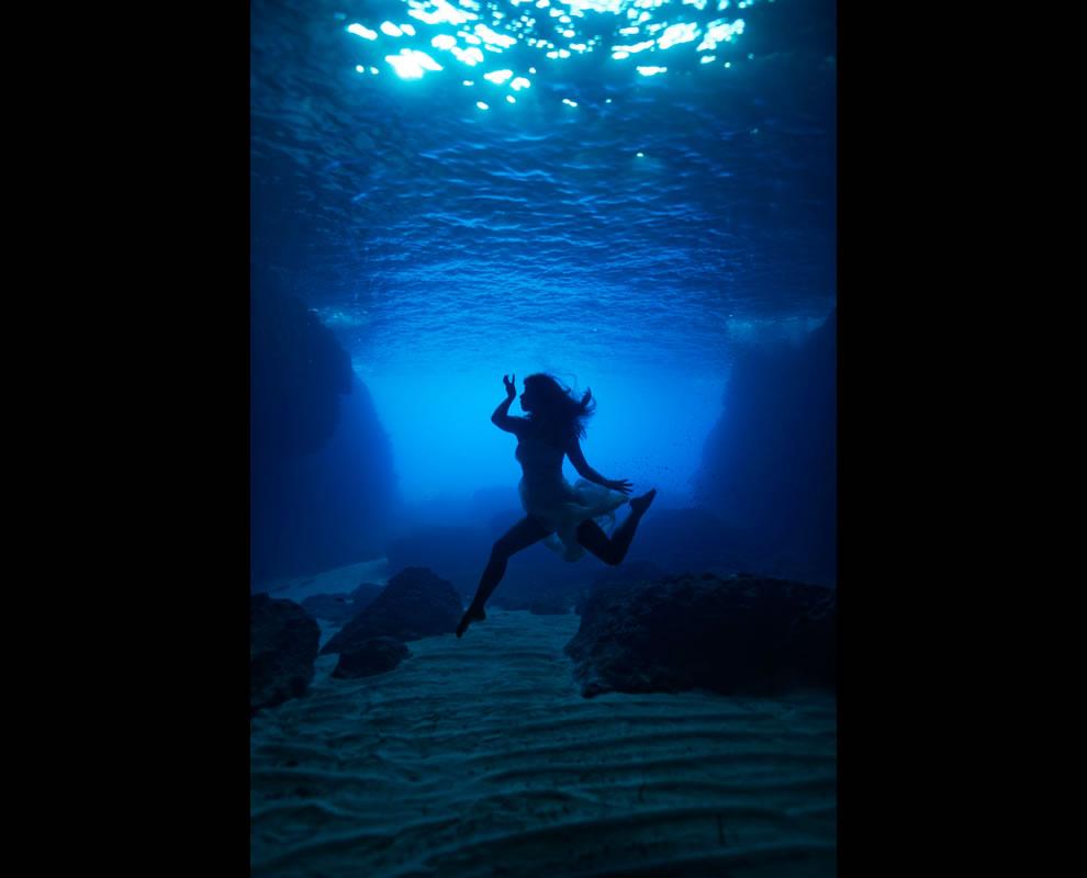 Underwater Comino Caves