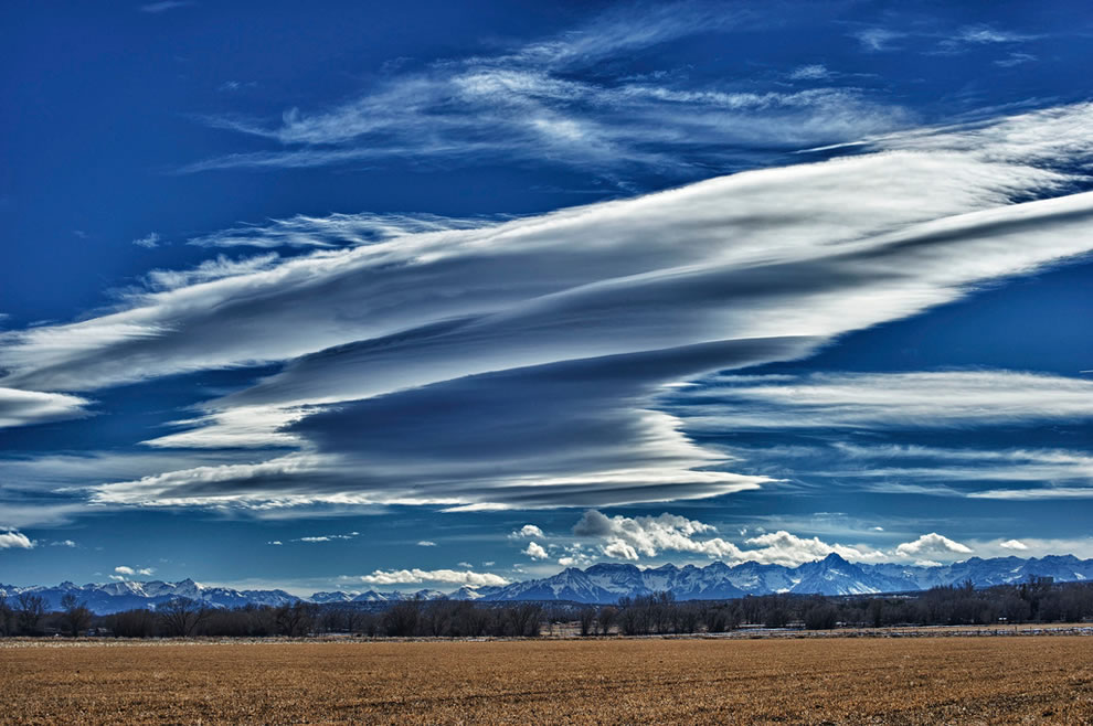 Lenticular Clouds over the San Juan Mountains, Colorado