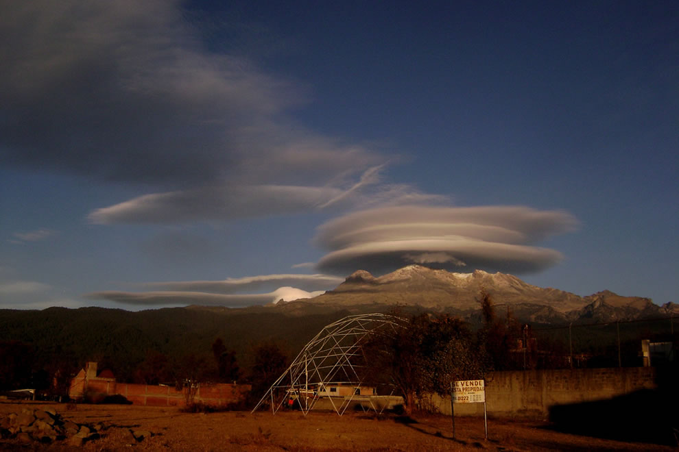 Lenticular clouds over Mexico