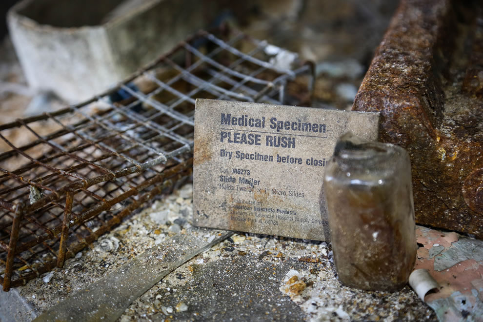 Please Rush, medical specimen left behind at Forest Haven