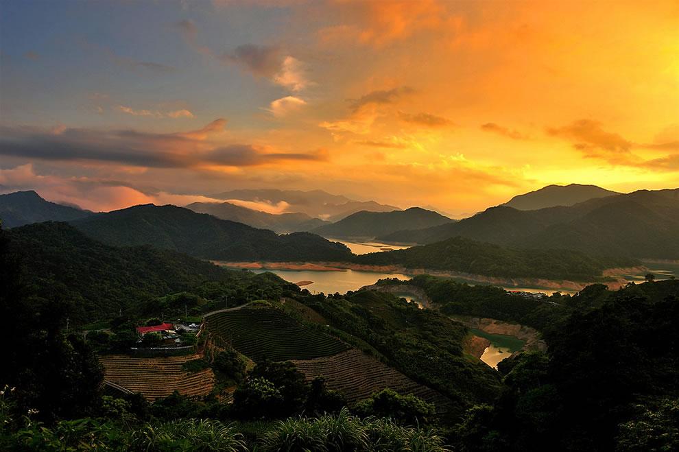 Taipei County Tangyao Tea Plantation Sunset