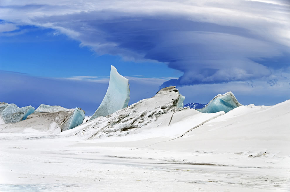 Wonders in the Antarctic Sea and Sky, lenticular cloud