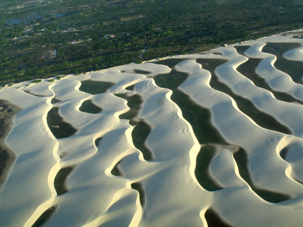 Aerial of Lencois Maranhenses