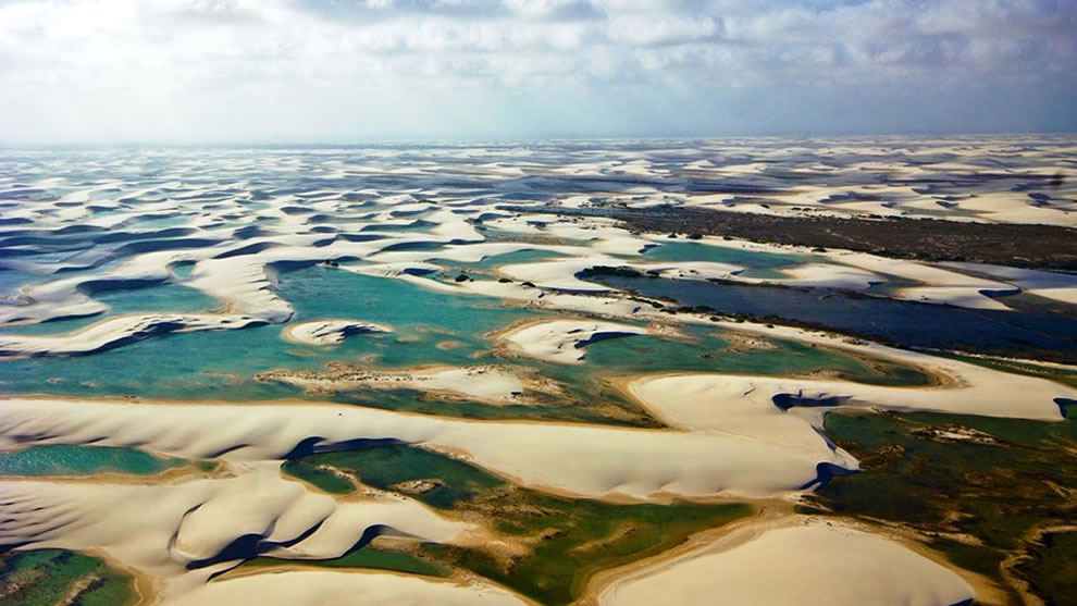 Lencois Maranhenses National Park lagoons in the desert