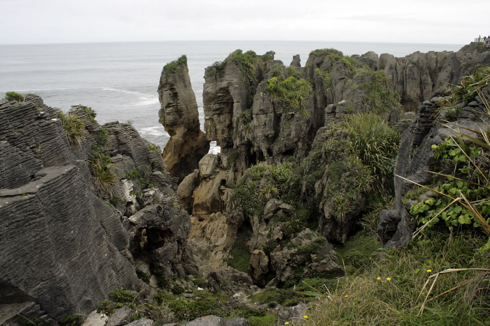 Punakaiki coast and pancake rocks