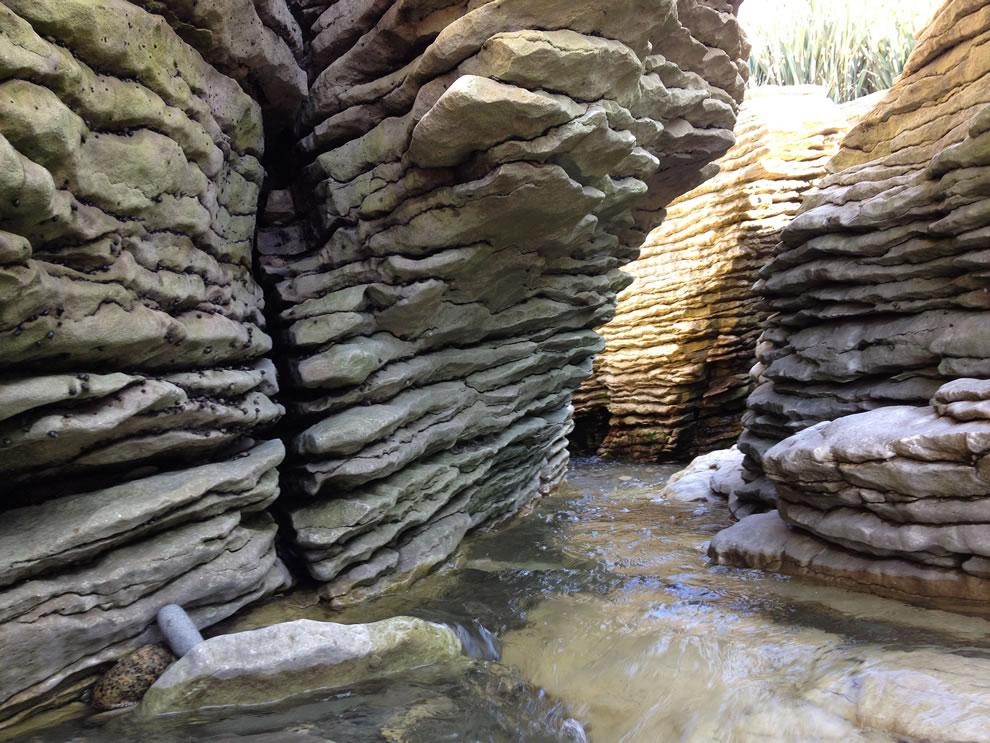 Pancake Rocks and rushing water