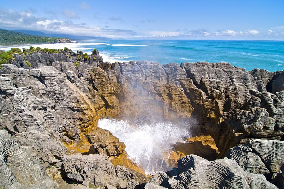 The famous Pancake Rocks at Paparoa National Park