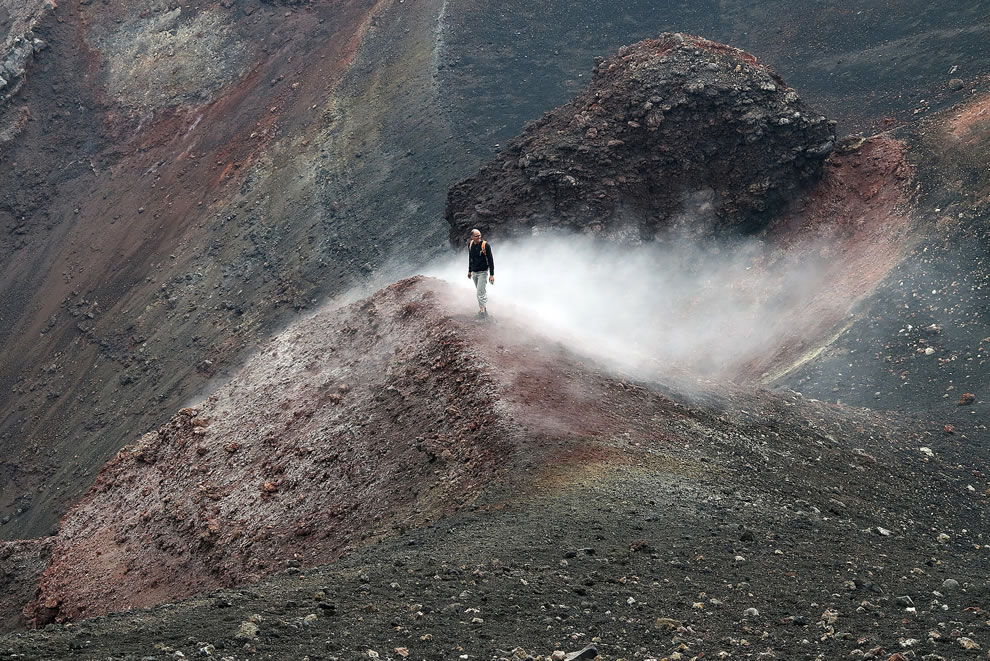 Alone on Etna, August 2012