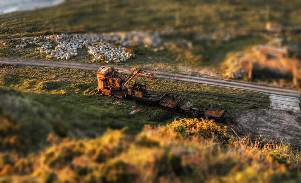Mannez Quarry, Alderney, Tilt-shift