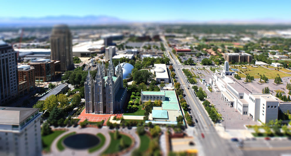 Miniature Mormon Temple Square