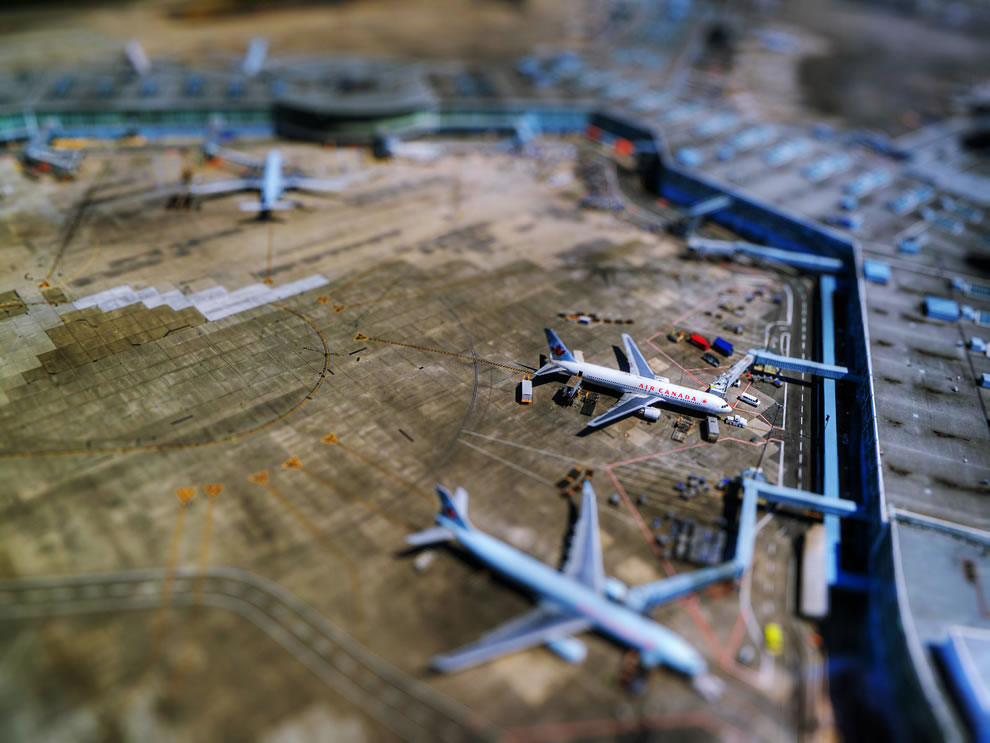 Tilt Shift of Vancouver International Airport