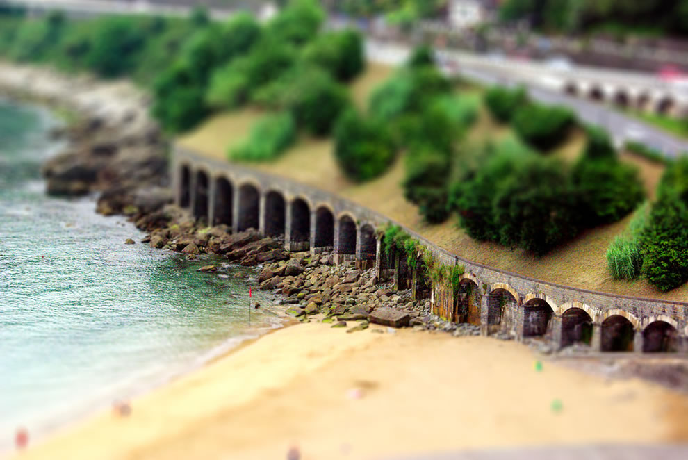 Travel in Euskadi tilt shift
